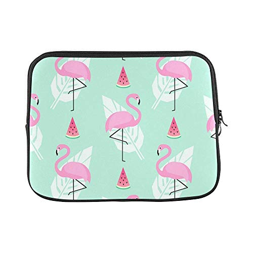 ASKSWF Computertasche Design Custom Tropical Trendy Pink Flamingos Sleeve Soft Laptop Case Bag Pouch Skin for Air 15inch(2 Sides)