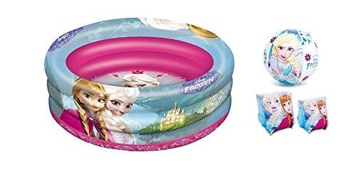 Set mare n.11 piscina 3 anelli + braccioli + palla gonfiabile (frozen)