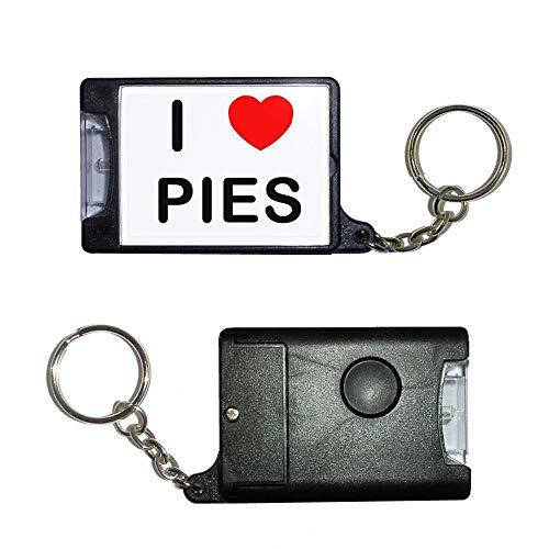 BadgeBeast.co.uk I Love Pies - Schwarze Taschenlampe -