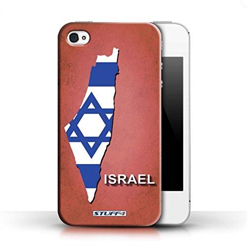 Kobalt® Imprimé Etui / Coque pour Apple iPhone 4/4S / Argentine conception / Série Drapeau Pays Israël/Israélien