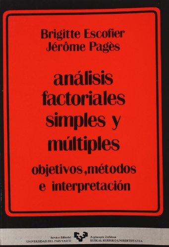 Descargar Libro Análisis factoriales simples y múltiples de Brigitte Escofier