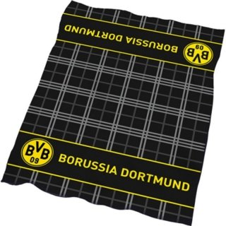 Bertels 2569-09-9-01 Borussia Dortmund Veloursdecke Karo