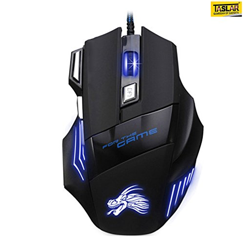 Taslar 5500 DPI 7 Button LED Optical USB Wired Gaming...
