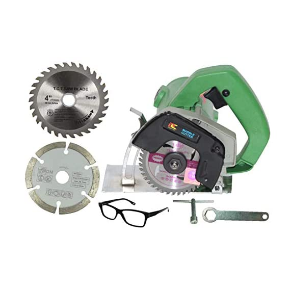 Digital Craft 1200W 11000 RPM Powerful cutting machine for Wood/Marble/Granite/Metal with 2 wheels 1050 W Handheld Tile Cutter