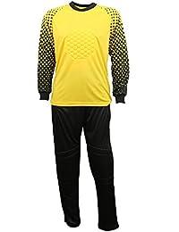 Zicac Combinaison de football gardien de but exercices l`ensemble maillot manches longues et pantalon pour Homme