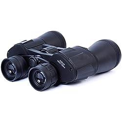 JIANFCR Telescopios binoculares ópticos 20X50 para la caza que acampan yendo de excursión al aire libre que se divierte el equipo (Color : Negro)