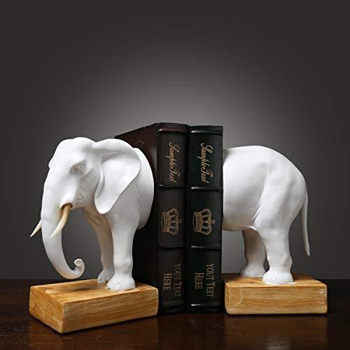 Good day Resin Elephant Statue Buchstützen Kreative Elephant Book Block Studie Office Home Decoration Ornamente Großes Buch von Crafts Desktop Furnishings,Elephant -