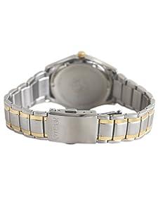 Citizen BM8434-58AE - Reloj analógico de cuarzo para hombre, correa de acero inoxidable chapado multicolor (solar) de Citizen