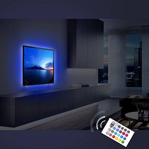 Derlson-Bias-Lighting-for-TV-Decorative-Light-LED-Strip-Lights-Backlight-Kit-for-Home-Theater-Under-Cabinet-PC-Monitor-Furniture-Decoration-Multi-Color-RGBUSB-Powered-Remote-Control