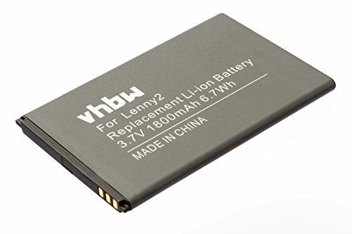 Vhbw Li-Ion batería 1800mAh 3.7V teléfono móvil