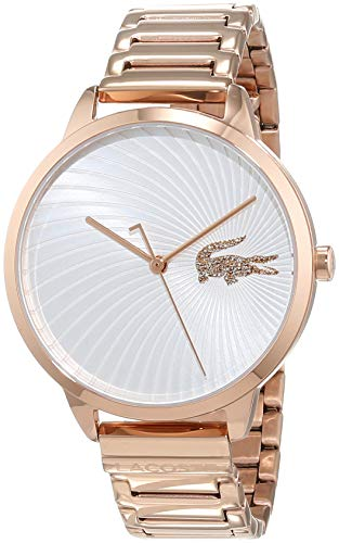 Lacoste Womens Analogue Classic Quartz Watch with Rose Gold Strap 2001060