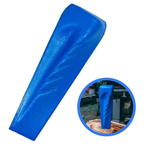 Trawomax® Spaltkeil zum Spalten von starkem Holz - [2 kg] - Drehspaltkeil aus extra gehärtetem Carbonstahl mit hoher Langlebigkeit - Holzspaltkeil   Spalter für Holz   Spaltgranate (Metall, Blau)