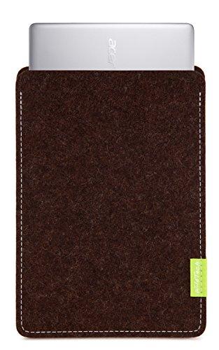 WildTech Sleeve für Acer Chromebook 14 (CB3-431-C6UD) Hülle Tasche aus echtem Wollfilz - 17 Farben (Handmade in Germany) - Trüffelbraun
