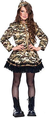 Fancy Me Italienische Herstellung Mädchen Deluxe Armee Soldat Tarnung Karneval Halloween Kostüm Kleid Outfit 3-8 Jahre - 3 Years (Italienische Halloween Kostüm)