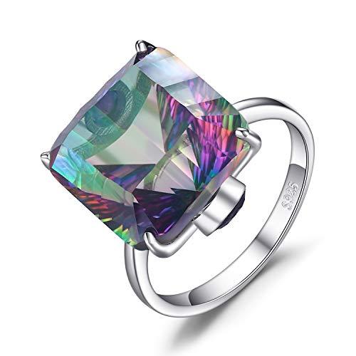 fc592aaabcd4 JewelryPalace Rectangle Concave Iris Natural Cuarzo Cocktail Anillo de  compromiso Plata de ley 925