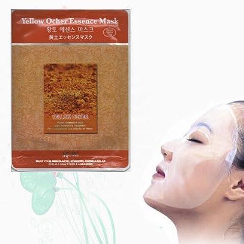 Natural Beauty Yellow Ocher Essence Full Face Mask 10 Pcs by Neru Biotech Face Mask