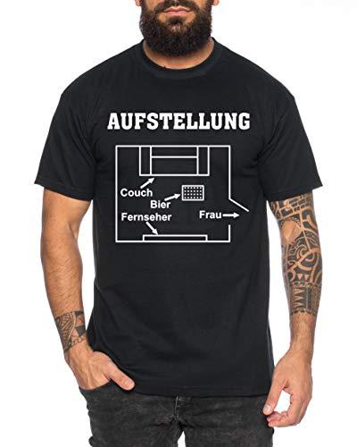 Aufstellung Herren T-Shirt Cooles lustiges Fun-Shirt, Farbe:Schwarz, Größe:4XL (Aufstellung T-shirt)