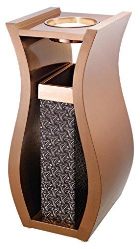 MNII Vertikal Aschenbecher sitzend Asche Eimer kreativ Boden Vase Typ Mülleimer Peel Tube , rose gold