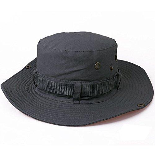 Beileer Élégant chapeau de soleil Protection UV pour plein air Pêche Camping Cyclisme Golf de Chasse Randonnée, Homme Femme Enfant, gris