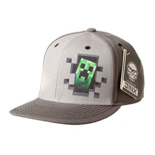 Minecraft Basecap 'Creeper Hole', Grau, 56 (8-12 Jahre)