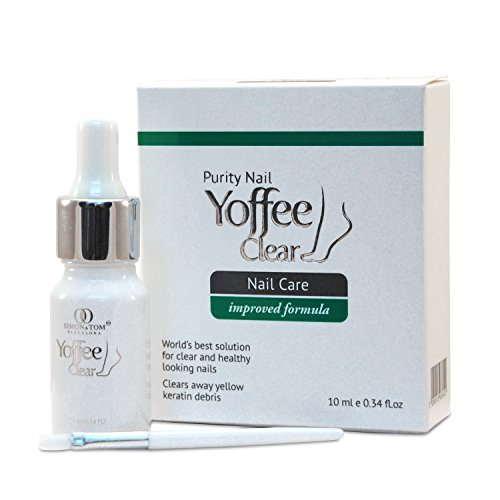 Simon & Tom Yoffee Clear - Premium Fungal Nail Treatment. Suitable for Finger and Toe Nails. With Tea Tree and Argan oil. 10ml