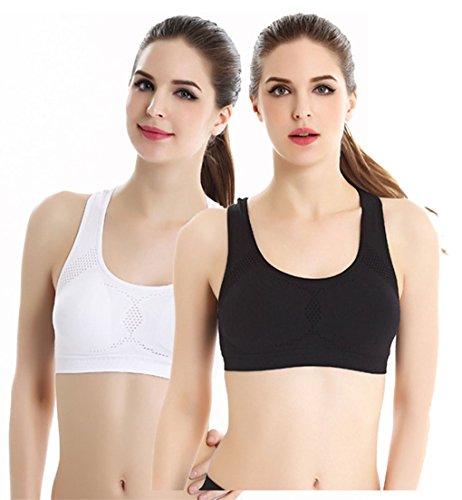 LemonGirl Damen Racerback High Impact Workout Fitnessstudio Sport Bras