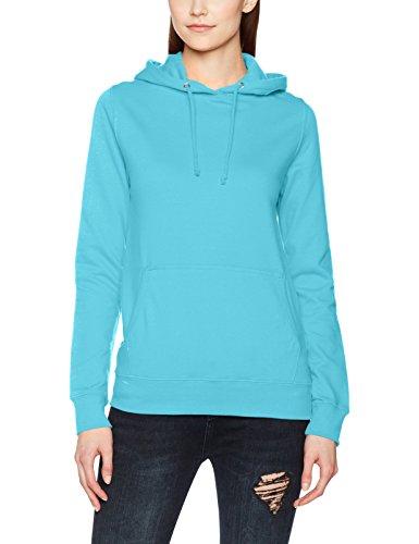 Awdis Girlie College Hoodie, Sweat-Shirt à Capuche Femme Blue (Turquoise Surf)