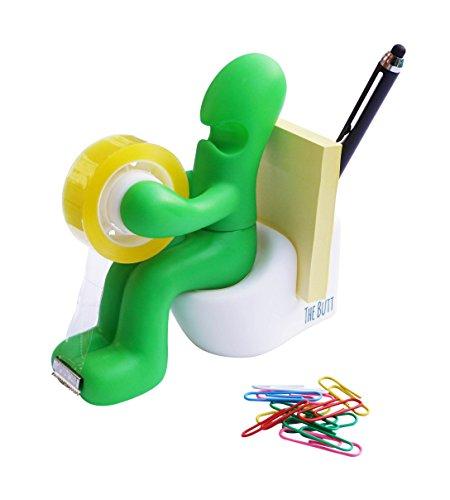 Le-Ft-de-bureau-Station-dalimentation-Accessoire-Bureau-Dvidoir-de-ruban-adhsif-papier-support-avec-rouleau-de-ruban-adhsif-et-clips-inclus