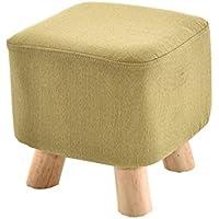 Preisvergleich für YYdy-Polsterhocker Kleiner Hocker Massivholz Couchtisch Niedriger Hocker Mode Kreative Erwachsene Für Schuhhocker Sofa Hocker Holzbank (Farbe : B)
