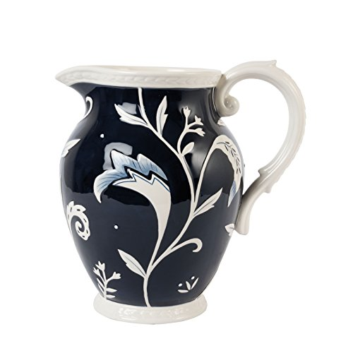 Bristol Collection, Pitcher, Royal Blue/White by Fitz and Floyd (Pitcher Floyd)