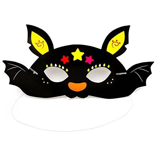 Fansi Halloween Kreative Cute Cartoon Maske Kind Schwarze Fledermaus Maske Maskerade Geburtstag Abschlussfeier Dekoration Requisiten Papier Maske
