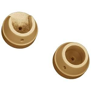 Rolls - Lot de 2 anneaux en naissance pour tringle à rideaux Woodline 28 mm - en bois - chêne clair