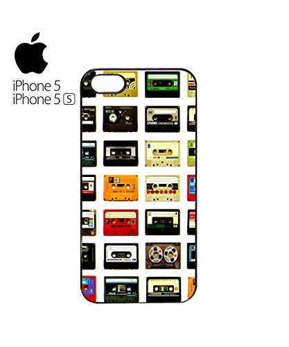 Casette Caset Casete Retro 80s' 70s' 60s' Mobile Phone Case Cover iPhone 6 Plus + White Blanc