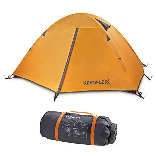 KeenFlex Tenda da Campeggio per 2 Persone Doppio Strato Ultra Leggera