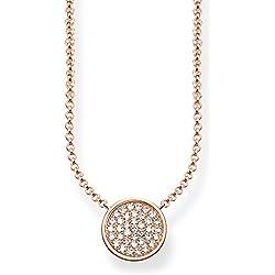 Thomas Sabo Mujer de cadena con colgante Glam & Soul Collar Sparkling círculos plata 925con Circonita Transparente 45cm–ke1491–416–14de l45V