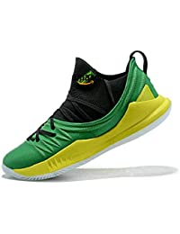 Curry 5 Low Grass Green Yellow Zapatillas de Deporte para Hombre