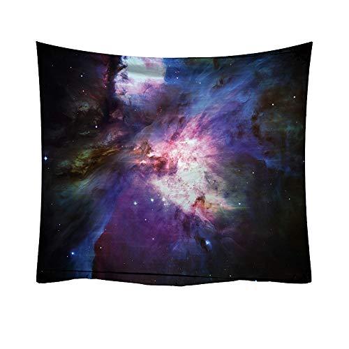 Xmiral Tapisserie Wandbild Universum Sternenhimmel Nacht Mond Hängen Tapestries Wandbehang Gobelin 93X75 cm(A)