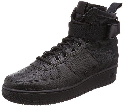 Nike Herren SF Air Force 1 Mid Schwarz Leder/Synthetik Sneaker 42 (High-top Nike-turnschuhe Für Männer)