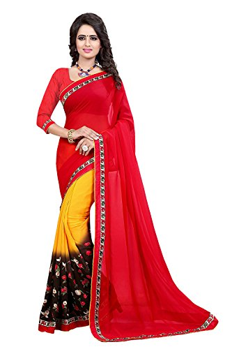 Great Indian Sale Sarees For Women Party Wear Designer Today Best Offers In Low Price Sale Multi Color Georgette Fabric Free Size Ladies Sari
