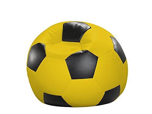 Cats Collection Fußball-Sitzball Kunstleder gelb/schwarz Ø 90 cm