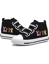 Gbbhretg Five Nights at Freddy'S Zapatos Zapatos de la Zapatilla Calzado con Dibujos de impresión Alto-Top de los Zapatos de Velcro Zapatos Planos adecuados for niños niños y niñas
