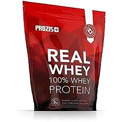 Prozis 100% Real Whey Protein 1000 g: Suplemento puro en polvo. Disfruta del batido con sabor a chocolate más delicioso del mercado. Con un perfil completo de aminoácidos y rico en BCAA. 40 D
