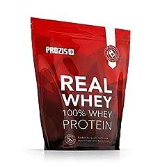 Idea Regalo - Prozis 100% Real Whey Proteine whey in polvere 1000 g - Delizioso gusto cioccolato con profilo di aminoacidi essenziali, ricco di BCAA per la massima crescita muscolare e il miglior recupero - 40 dosi