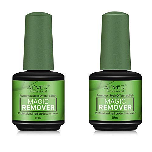 2 pezzi Magic Nail Polish Remover Professional, rimuove lo smalto in gel soak-off in 3-5 minuti, facilmente e rapidamente, non danneggia le unghie