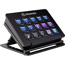 Corsair Stream Deck - Contrôleur de Création de contenus en Direct, 15 Touches LCD Personnalisables, Support Réglable, Windows 10 et macOS 10.13 ou Version Plus Récente