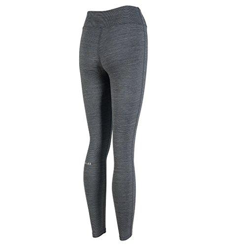 H. Miles Damen Yoga Leggings Running Tights Workout Pants Grey-Full