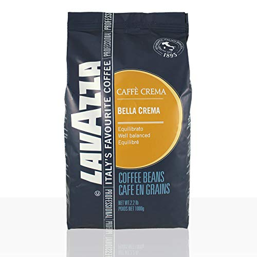 Lavazza Caffé Bar Bella Crema, ganze Bohnen, Bohnenkaffee, 6er Pack, 6 x 1000g