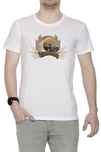 Mustang Uomo T-shirt Bianco Cotone Girocollo Maniche Corte White Men's T-shirt