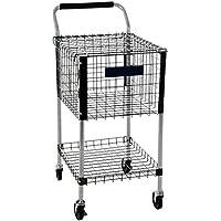 Unterricht Tennis Ball Cart | Trägt bis zu 325 Tennis Bälle | Haltbarer Aluminium Rahmen | Verfügt über einen abschließbaren Deckel & Speicher Tablett | 4 SchwerLast Räder