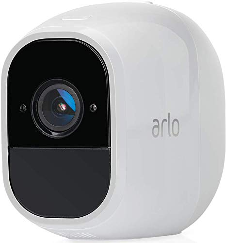 Arlo Pro2 Smart Home Security Cameras | Alarm | Rechargeable | Night Vision | Indoor/Outdoor | 1080p | 2-Way Audio | Free Cloud Storage Included | Add on Camera - Basestation Needed | VMS4130P